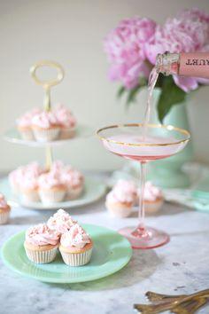 Rosé Champagne Mini Cupcakes