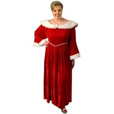 What a pretty dress...maybe Mrs. Claus needs a new wardrobe!