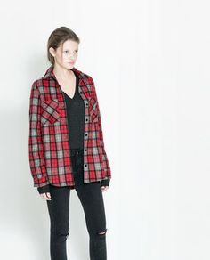 Long Checked Overshirt on shopstyle.com
