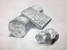 #개체묘사 #돌질감 #돌소묘 #바위소묘 Texture Drawing, Stone Texture, Drawings, Sketches, Draw, Drawing, Resim, Painting, Paintings