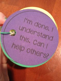 A great idea for student self evaluations!