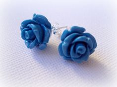 FREE Shipping Blue Coral 925 Sterling Silver Studs. by earringsAND, $22.50