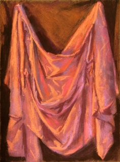 """drapery study, pastel on LaCarte paper, about 9x12"""""""