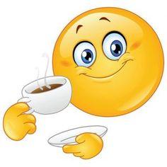 Time for a cuppa - Smiley Emotion - Bitmoji Animated Smiley Faces, Funny Emoji Faces, Funny Emoticons, Smileys, Love Smiley, Emoji Love, Smiley Emoji, Images Emoji, Emoji Craft