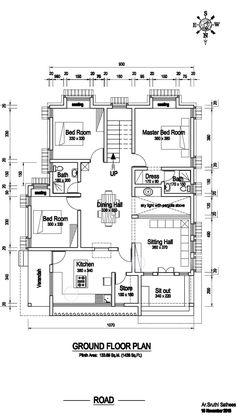 Little House Plans, 2bhk House Plan, Three Bedroom House Plan, Model House Plan, House Layout Plans, Duplex House Plans, Dream House Plans, Small House Plans, House Floor Plans