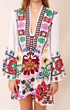 Vintage dress Ukrainian dress 1920s- 1960s tunic loose dress winter dress mini dress bohemian dress Embroidered dress
