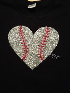 Baseball Glitter Bling Tshirt by Wrhinestoner on Etsy, $17.99