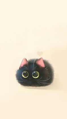 May this pin was discovered by cor stastny. Animals And Pets, Cute Baby Animals, Black Cat Art, Cute Animal Drawings, Cute Cartoon Wallpapers, Cat Tattoo, Cat Drawing, Cute Illustration, Crazy Cats