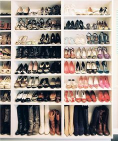 Pinch me...I have no words except that I have donated so many shoes that fit but are uncomfortable because I have found more comfortable ones to wear haha. I do of course have a dream closet for shoes in mind, it just ahem may not be as elaborate.