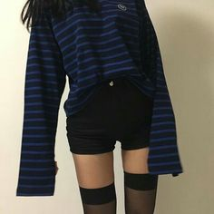 Imagen de outfit, fashion, and kfashion Grunge Outfits, Grunge Fashion, Korean Fashion Trends, Asian Fashion, Fashion Ideas, Fashion Outfits, Ulzzang Fashion, Korea Fashion, Skinny Girls