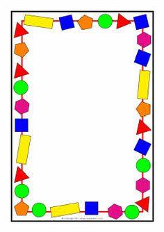 2D shapes A4 page borders (SB3880) - SparkleBox