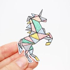 Unicorn Patch, Iron On, Embroidered Patch by mimosch  mimosch patches are a fun and simple way to personalise your t-shirts, jackets, hats, jeans, canvas bags, & canvas sneakers and much more!  All patches are based on unique designs and handcrafted with great care. They feature an iron-on backing & ship with instructions.  How to apply the patch 1. Important note: Always iron without steam. 2. Thoroughly iron the area of the garment where the patch will be placed. 3. Place the patch ...