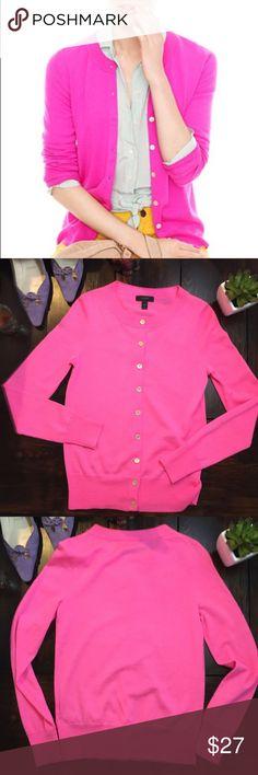 J. Crew bright pink tippi sweater cardigan cardi In excellent used condition. JCrew tippi cardigan. 100% merino wool. J. Crew Sweaters Cardigans