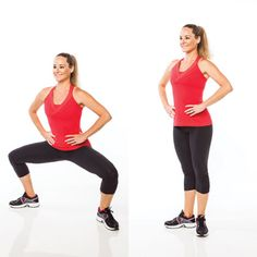 Grand plié heel slides are your ticket to a better bottom half. www.gymra.com/... #fitness #exercise #weightloss #diet #fitspiration #fitspo #health