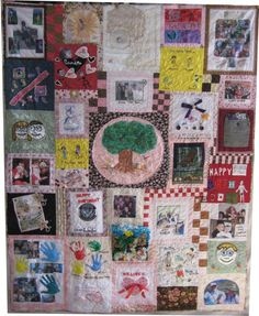 Love the kids artwork and photos incorporated into this memory quilt!  The Dread Pirate Rodgers Web Page