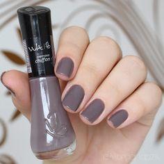 """Esmalte """"Chiffon"""" da Vult Cosmética     Unhas Elegantes Cinza   Gray Nails   Fancy   by @morganapzk"""