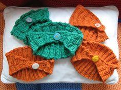 Calorimetry headbands knit by WorstedKnitt