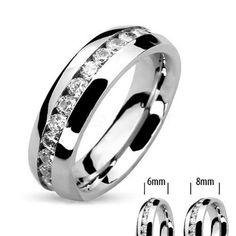 His & Hers Stainless Steel 4.17 Ct Cz Bridal Set & Men's Eternity Wedding Band