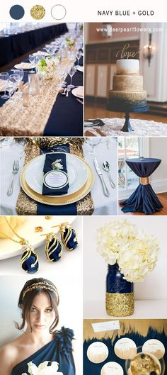 navy blue and gold wedding color combo ideas for 2018