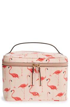 Womens kate spade new york cedar street flamingos - large natalie cosmetics case - Shell
