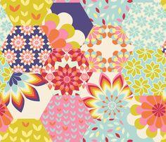 bloomy fabric by brokkoletti on Spoonflower - custom fabric