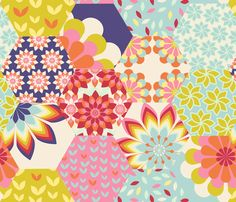 bloomy fabric by brokkoletti on Spoonflower - custom fabric. Spoonflowers print your designs on fabrics, wallpaper or interiours.