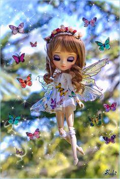 Maybe I am dreaming? // ☆ My photo 500 ! Cute Cartoon Girl, Cartoon Pics, Beautiful Barbie Dolls, Pretty Dolls, Ooak Dolls, Blythe Dolls, Magic Garden, Barbie Images, Kobold