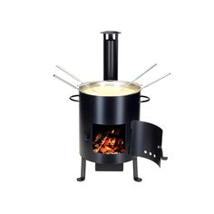 Fondue type: Fondue is a Swiss communal dish shared at the table in an earthenware pot (caquelon) over a small burner (rechaud). Grill Oven, Earthenware, Wok, Stove, Grilling, The Originals, Gourmet, Melted Cheese, Hot Pot