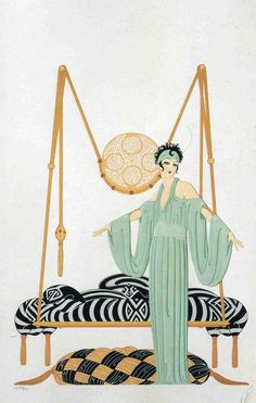 Vintage art by Erte > photo 1832527 > fashion picture