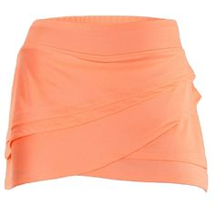 Lija Tranquil Layered Skirt in Fluoro Orange looks great paired with navy | #golf4her #tennis #golf