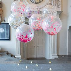 I've just found Giant Heart Confetti Filled Balloons. A beautiful giant three foot heart confetti filled balloon sure to add the wow factor to any party! Clear Balloons With Confetti, Jumbo Balloons, Bubblegum Balloons, Glitter Balloons, Round Balloons, Giant Balloons, Latex Balloons, Ballons Brilliantes, Ballon Rose
