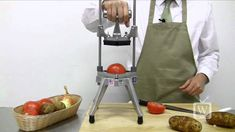 Chop up large volumes of vegetables in little time and with less mess! The Nemco Easy Chopper Vegetable Cutter comes in a variety of sizes and can handle alm. Kitchen Tools, Kitchen Gadgets, Vegetable Chopper, Canning Tomatoes, Cooking Gadgets, Videos, Vegetables, Food Chopper, Outlet