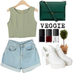 Veggie by misssimplicity on Polyvore featuring Monki, Marni and NARS Cosmetics
