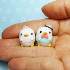 Disney ufufy Daisy duck and Donald duck #polymer #polymerclay #polymerclaycharms #polymerclaycreations #fimoclay #fimocreations #fimo #handmade #bylizascreations