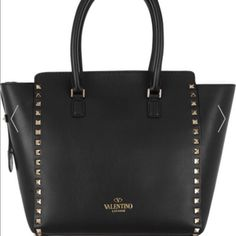Valentino Handbag Black color studded authentic Valentino handbag. Looking to sell only. Cannot find the additional long strap it came with. Please let me know if you want more pictures I can happily email them Valentino Bags