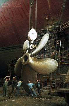 Constructing Ship Propeller