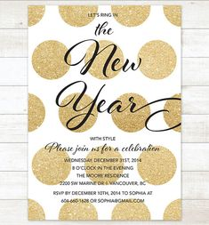 Printable New Years Party Invitation This listing includes 1 personalized printable party invitation. You will not receive anything in the