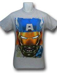Avengers Movie Hero-Head T-Shirt