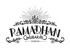 Ramadhan Mubarak 1433 H by Faheema Patel, via Behance Retro Typography, Graphic Design Typography, Sisters Magazine, Ramadan Crafts, Glass Artwork, Design Case, Case Study, Hand Lettering, Reflection