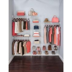 White Ventilated Wire Closet Organizer Kit