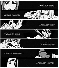Bleach | Female Warriors | Women come in all shapes and sizes |