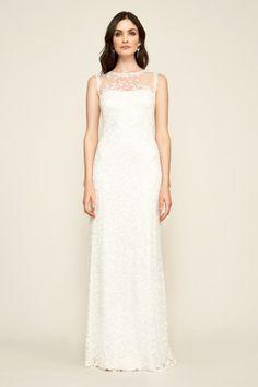 Tadashi Shoji Dakota Sleeveless Embroidered Lace Gown