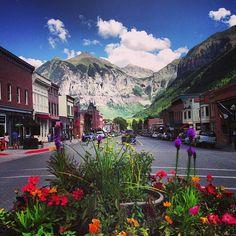 Colorado Ave. (Main Street) #Telluride #Colorado | Summers Day | FamilyFreshCooking.com