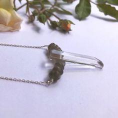 Collier Quartz et Pierre de Lune Artisanal, Bracelets, Bobby Pins, Hair Accessories, Beauty, Handcrafted Jewelry, Moon, Stone, Necklaces