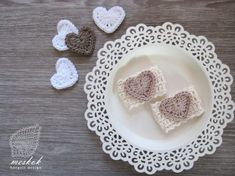 Pretty Photos, Napkin Rings, Valentines Day, Decorative Plates, Napkins, Holidays, Heart, Crochet, Valentine's Day Diy