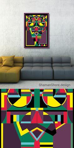 Geometric Art Print Aztec Art, Colorful Geometric Wall Art Printable, Geometric Art Abstract Print on Etsy, Aztec Art Style, Abstract Art Geometric Colorful Print