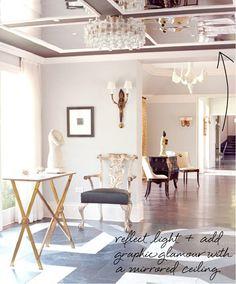 trendy ideas for bedroom mirror ceiling Top Interior Designers, Luxury Interior, Interior And Exterior, Hall Interior, Luxury Decor, Floor Design, Ceiling Design, House Design, Ceiling Ideas