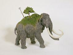 Игрушка Млекопитающие и Динозавры обременены Миниатюрные цивилизаций по Maico Акиба