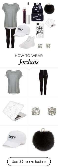 """""""Untitled #11"""" by lovefashion101357 on Polyvore featuring River Island, Sweaty Betty, NIKE, Anastasia Beverly Hills, Valentino, SO, Casetify, Yves Salomon and Recover"""