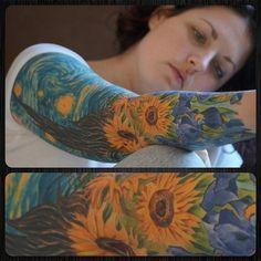 Love to van gogh . #vangogh #tattoos #colorfulsleeve #beautiful